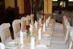 Esküvői díszterítés Kisduna Étterem és Panzió Dunaharaszti 4