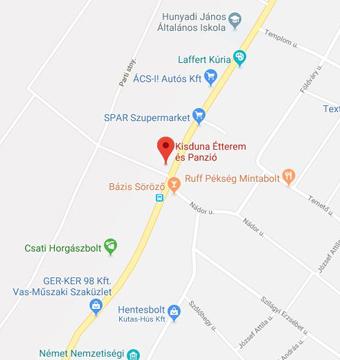 Kisduna Panzió és Étterem google térkép